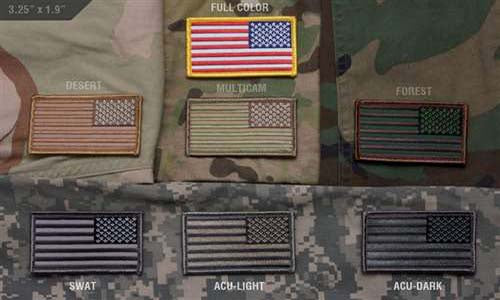 US Flag Reversed Multicam - ssairsoft