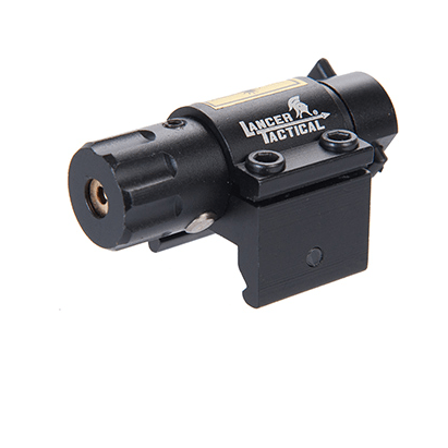 Lancer Tactical Airsoft Mini Sized Red Laser Sight - BLACK - ssairsoft