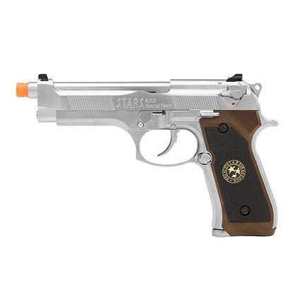 WE Biohazard M92 Gas Blowback Airsoft Pistol (SILVER) - ssairsoft