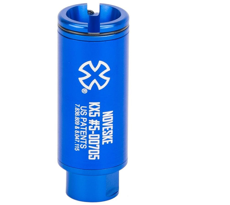 Noveske Flash Hider w/ Built-In ACETECH Lighter S Ultra Compact Rechargeable Tracer-KX3 Blue - ssairsoft