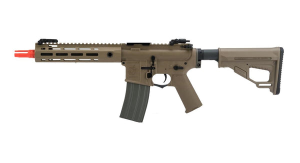 Helios Knight's Armament Licensed SR-16E Mod2 Airsoft AEG Rifle CQB / Tan - ssairsoft