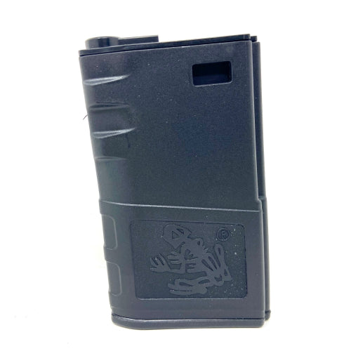 G&P 140rd Short Skull Frog Hi-Cap Magazine for M4 / M16 Series Airsoft AEG Rifles (Color: Black) - ssairsoft