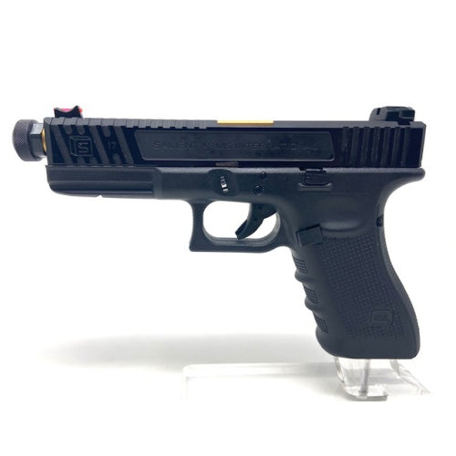 SS Custom Glock 17 Salient Arms Black/Gold with threaded barrel - ssairsoft