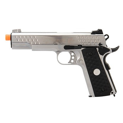 WE Tech Full Metal Knighthawk 1911 Gas Blowback Airsoft Pistol (SILVER) - ssairsoft