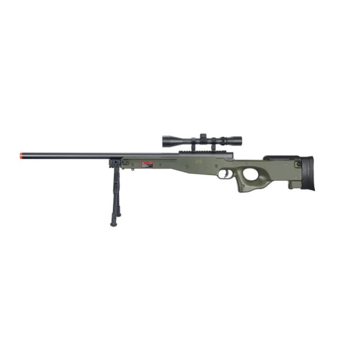 BOLT ACTION RIFLE w/BIPOD & SCOPE - ssairsoft