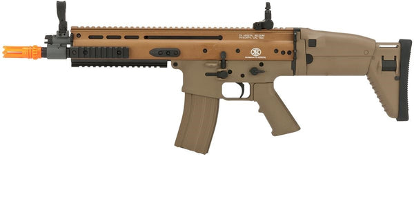 FN Herstal Licensed SCAR-L Airsoft AEG Rifle by Softair Cybergun CYMA - Tan - ssairsoft
