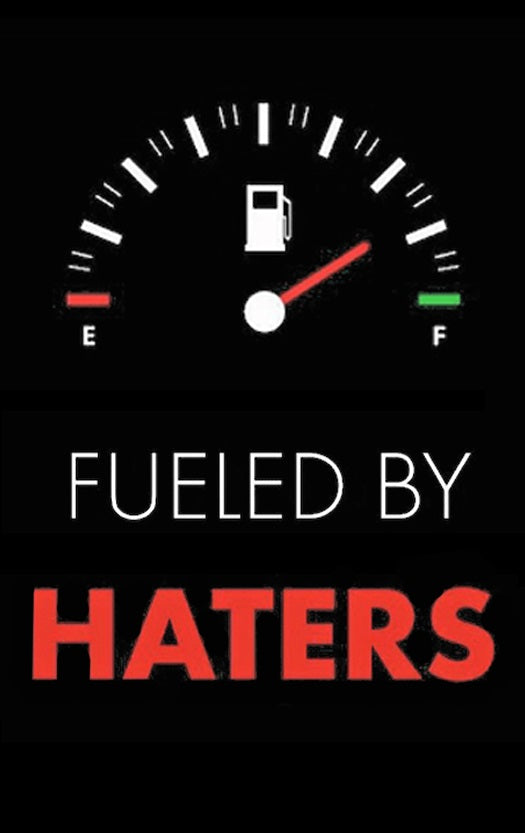 Fueled by Haters barrel Sock
