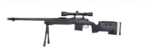 WellFire M40A3 Bolt Action Sniper Rifle w/ Scope (BLACK)