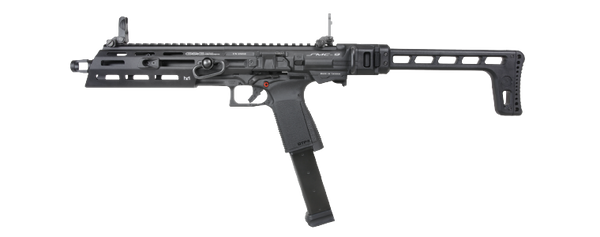 G&G Armament SMC-9 Gas Blowback Pistol Caliber Carbine- Black - ssairsoft
