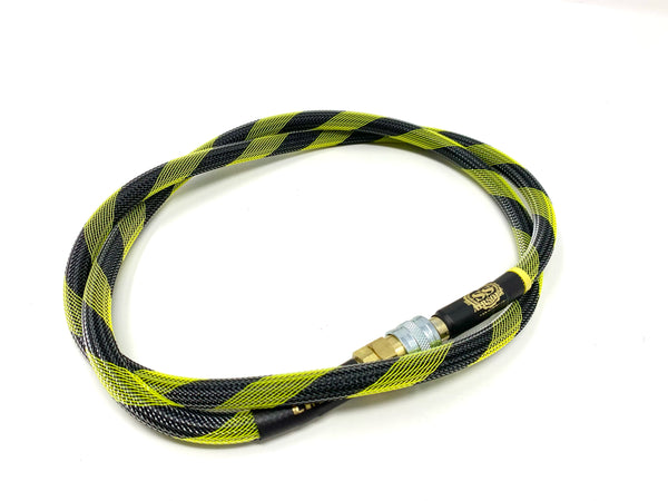 "SS Airsoft 42"" HPA Line Standard Weave - Black and Yellow - ssairsoft"