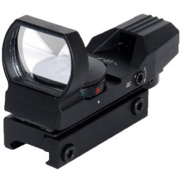 Lancer Tactical Airsoft 4-Reticle Red/Green Dot Reflex Sight - BLACK - ssairsoft