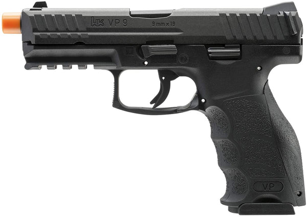 H&K VP9 Gas Blowback Airsoft Pistol, Black - ssairsoft