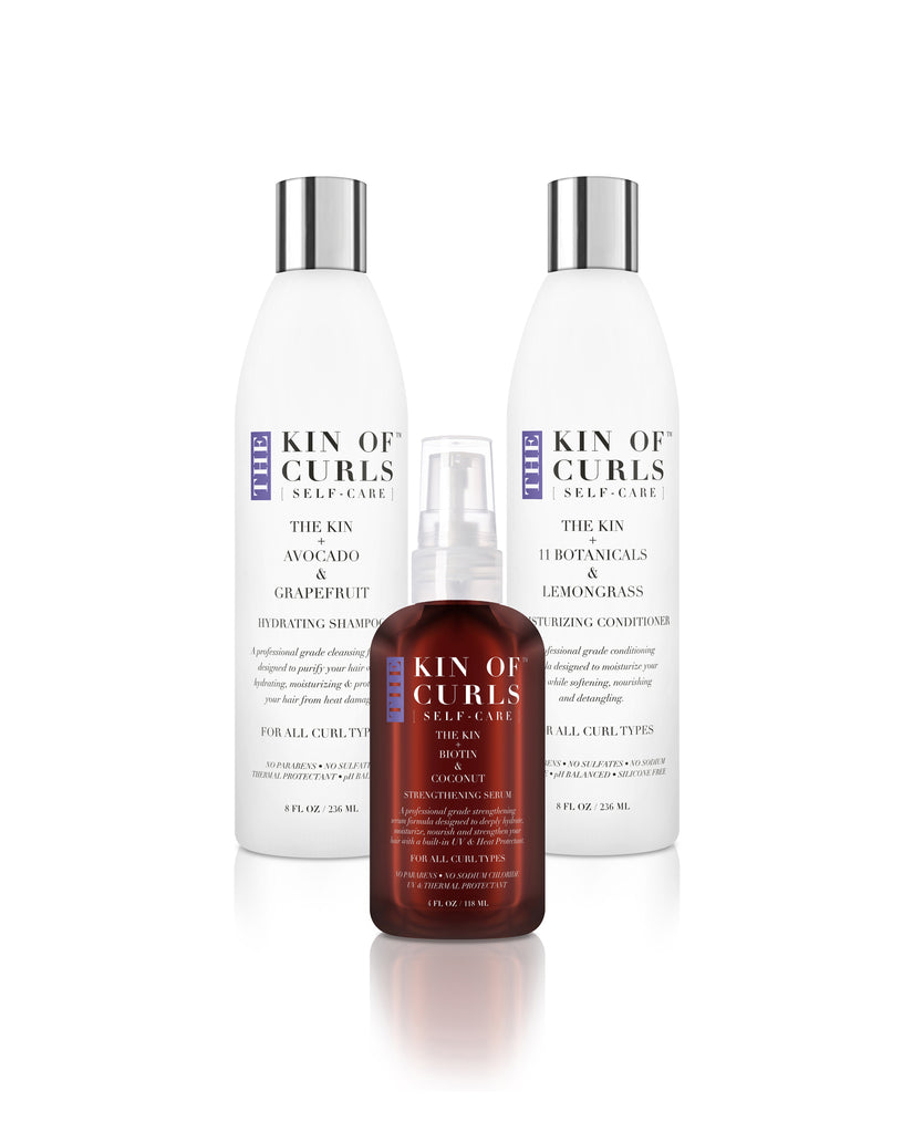 THE KIN+ SHAMPOO, CONDITIONER & SERUM