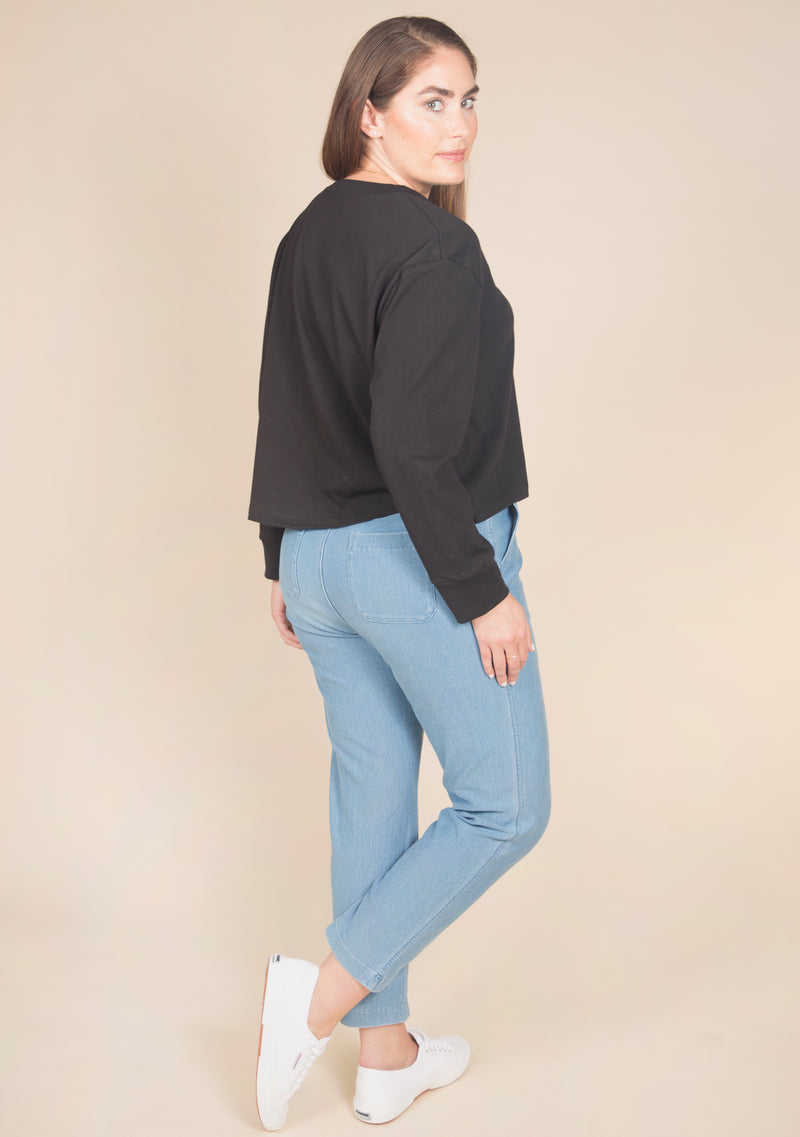 Cindy Organic Cotton Crop Pocket Tee