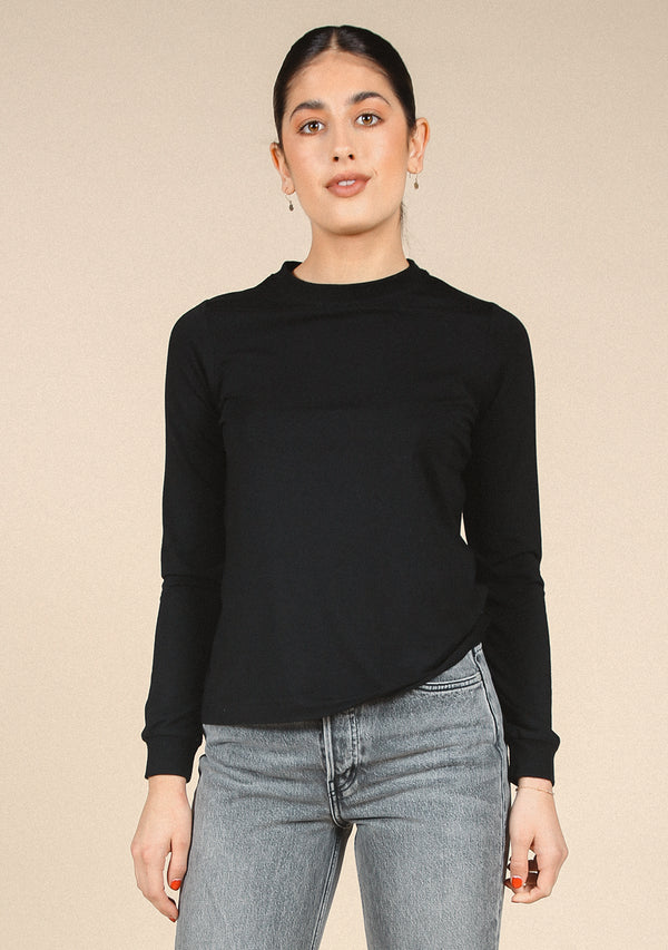 Gwen Long Sleeve Tee - Tencel + Organic Cotton Blend