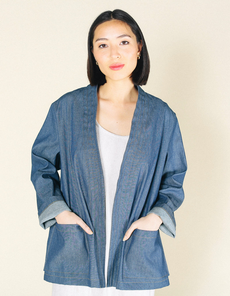 Ren Upcycled Denim Open Smock
