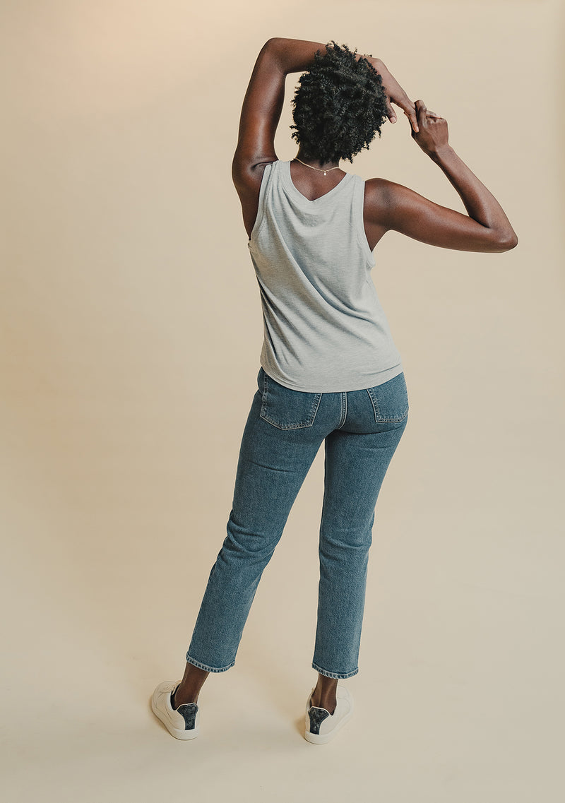 Shirley Bamboo Tank in Grey (Back)