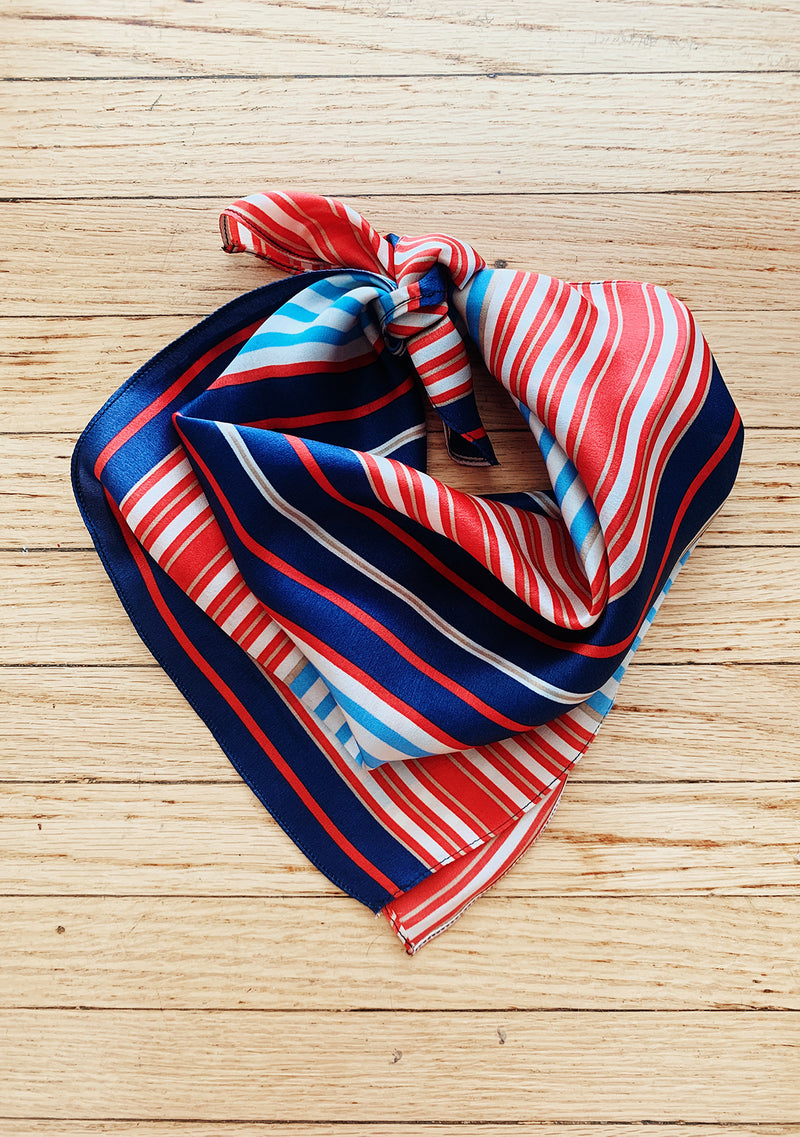 Striped 100% Silk Scarf