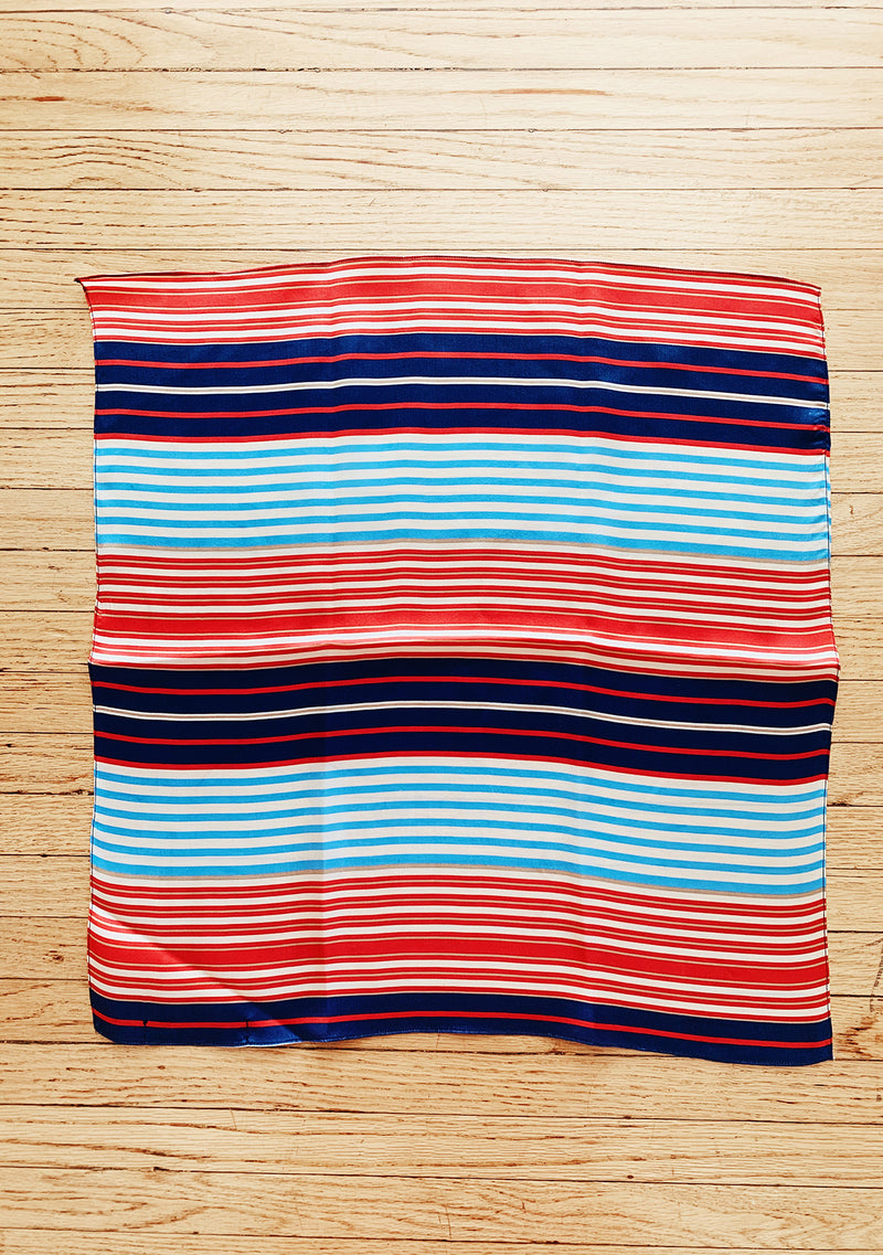 Striped silk scarves