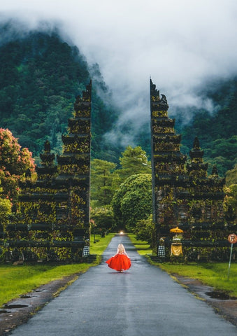 Red Dress in Bali