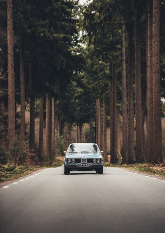 Vintage BMW in Forest
