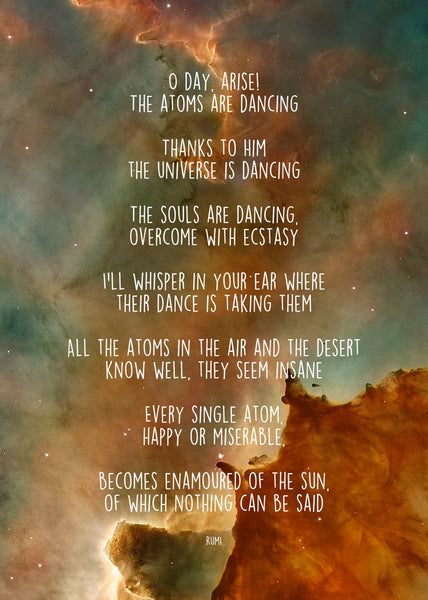 Rumi Poem of the Atoms