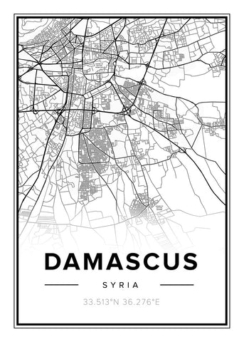 Map Damascus