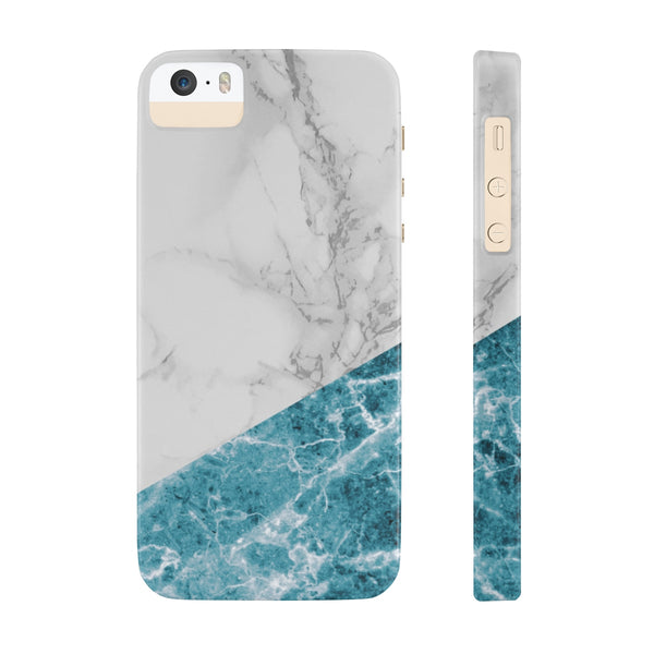 White Blue Marble Slim