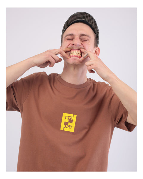 FUCK FEAR / FEEL FREE Caramel Tee