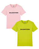 (2 tee for 1 price) B-YOGA Baby-Pink + Lime-Green tee's