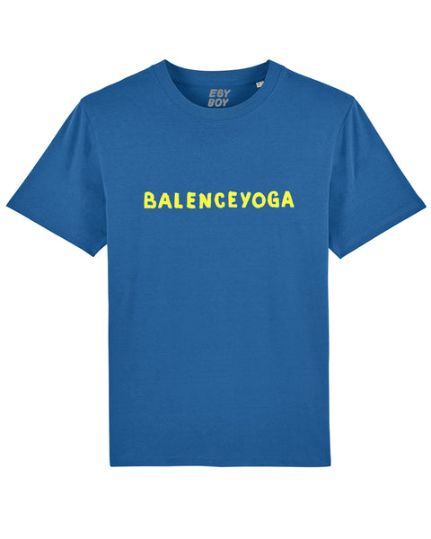 B-YOGA Premium Blue/Yellow print tee