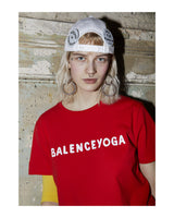 B-YOGA Red/White print tee
