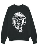 (SALE) ANNA WINTOUR PUNK Black Sweater