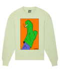 (SOLD OUT) SMOKING SHOE Light-Lime sweater