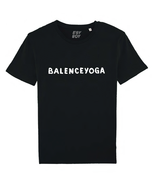 B-YOGA Black/White print tee