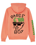 FASHIONAL GEO PARIS BOY Flamingo-Pink Hoodie