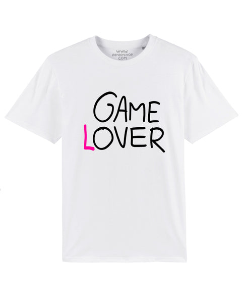 GAME LOVER White Black/Pink Tee
