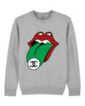 HOT (CC) LIPS Grey sweater