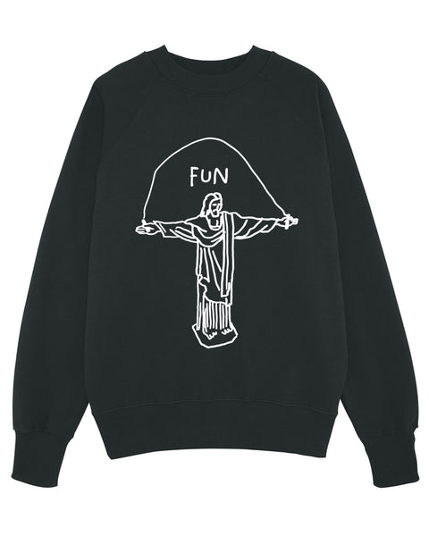 (SOLD OUT) JEZUS FUN Black Unisex Sweater