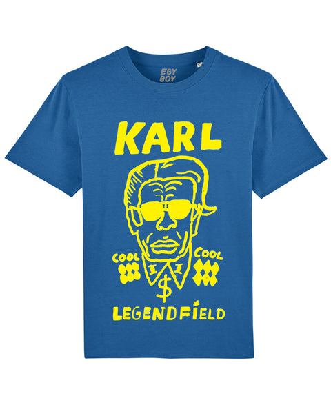 KARL LEGENDFIELD Premium blue/yellow tee