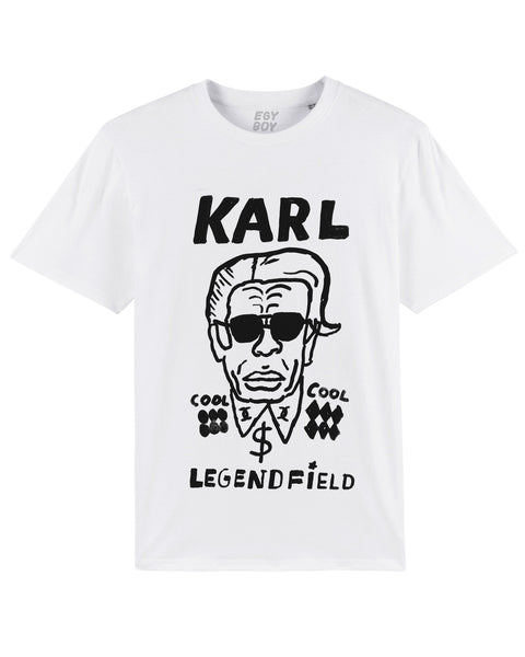 (-30%) KARL LEGENDFIELD WHITE Tee