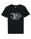LIVE VERY GOOD Black/White print tee