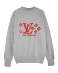 (SOLD OUT) LVgood GREY/Red sweater