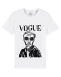 VOGUING White/black tee
