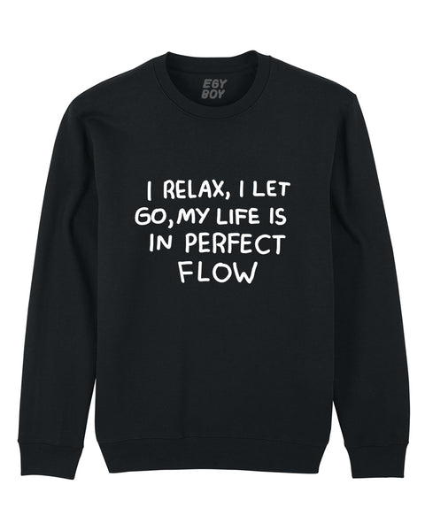 (SOLD OUT) I RELAX I LET GO / Classic Black Sweater
