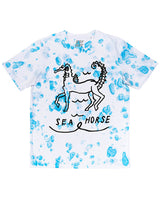 SEA HORSE Tie Dye colourful tee