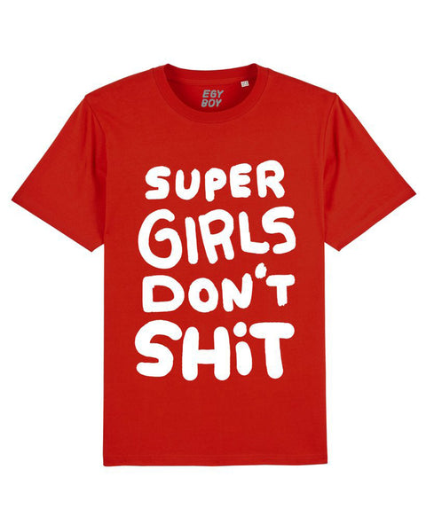 SUPER GIRLS Red/White print tee