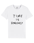 TIME IS HONEY White/Black print tee
