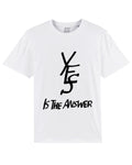 YES is THE ANSWER Premium White tee