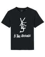 YES IS THE ANSWER / Black tee